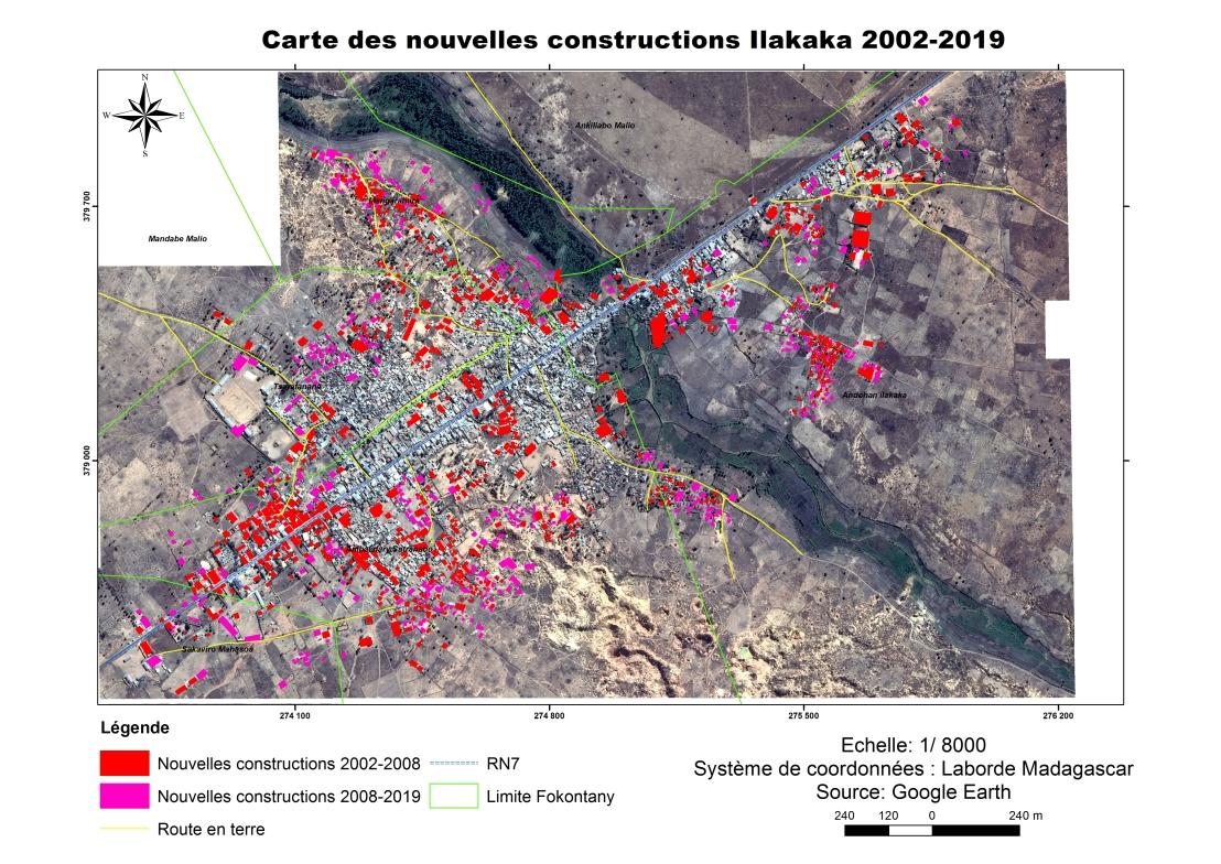Carte nouv constr Ilakaka 2002-2019. Plein